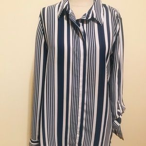 Forever 21 sheer strip button down